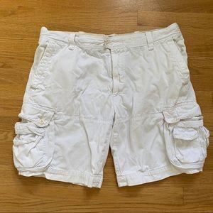 Men's Polo White Cargo Shorts